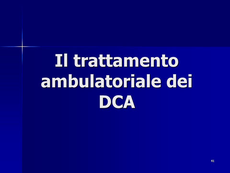 Il trattamento ambulatoriale dei DCA