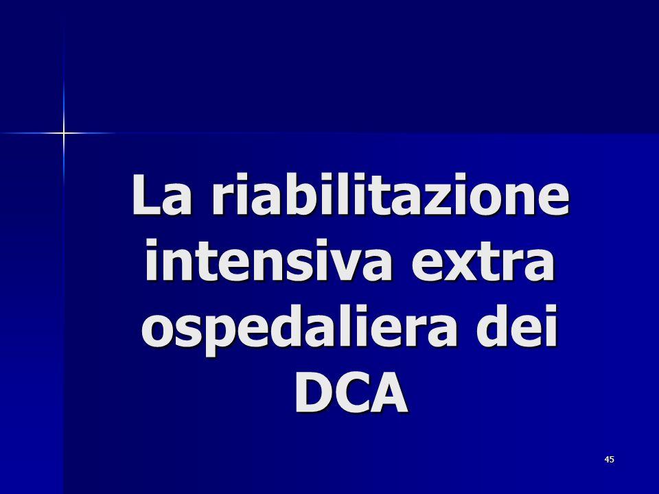 La riabilitazione intensiva extra ospedaliera dei DCA