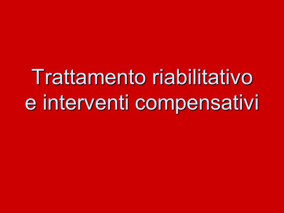 Trattamento riabilitativo e interventi compensativi