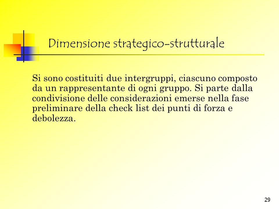 Dimensione strategico-strutturale