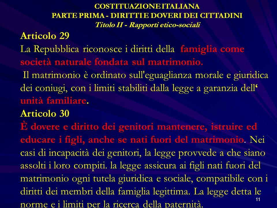 COSTITUAZIONE ITALIANA