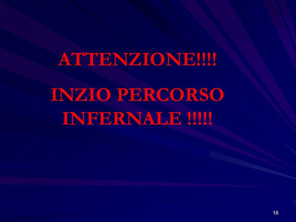 INZIO PERCORSO INFERNALE !!!!!
