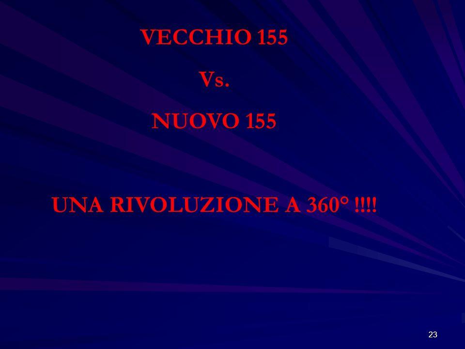 VECCHIO 155 Vs. NUOVO 155 UNA RIVOLUZIONE A 360° !!!!