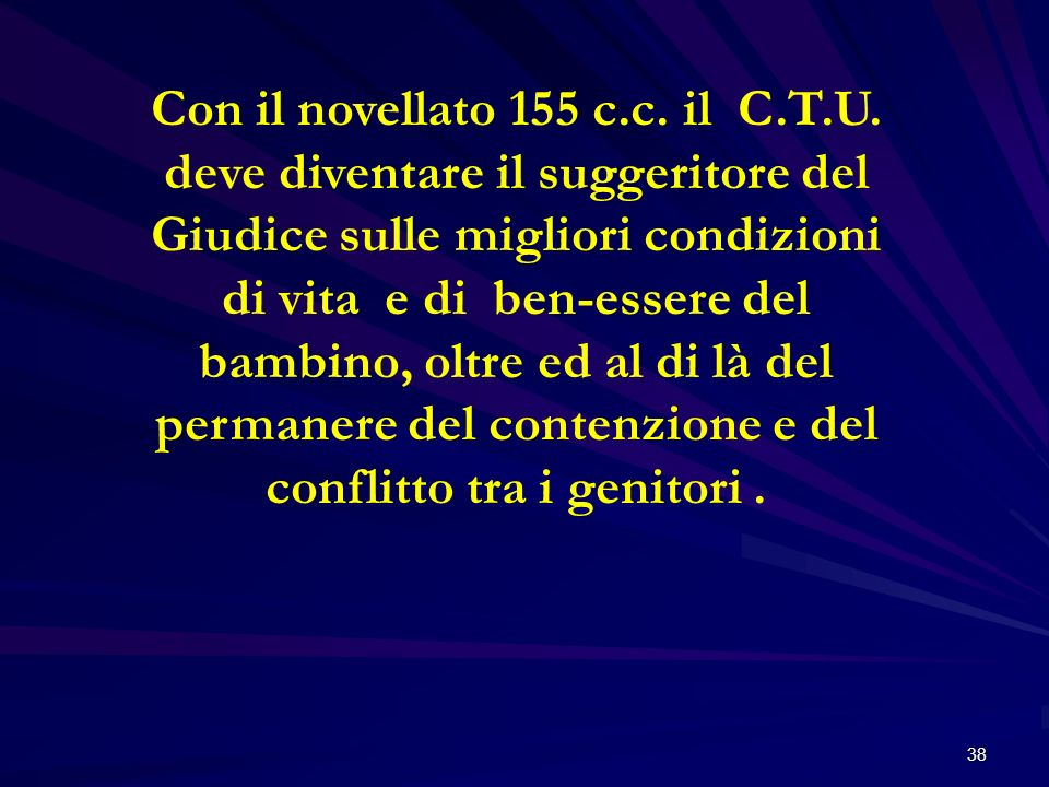 Con il novellato 155 c. c. il C. T. U