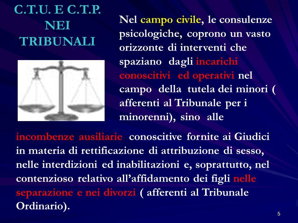 C.T.U. E C.T.P. NEI TRIBUNALI