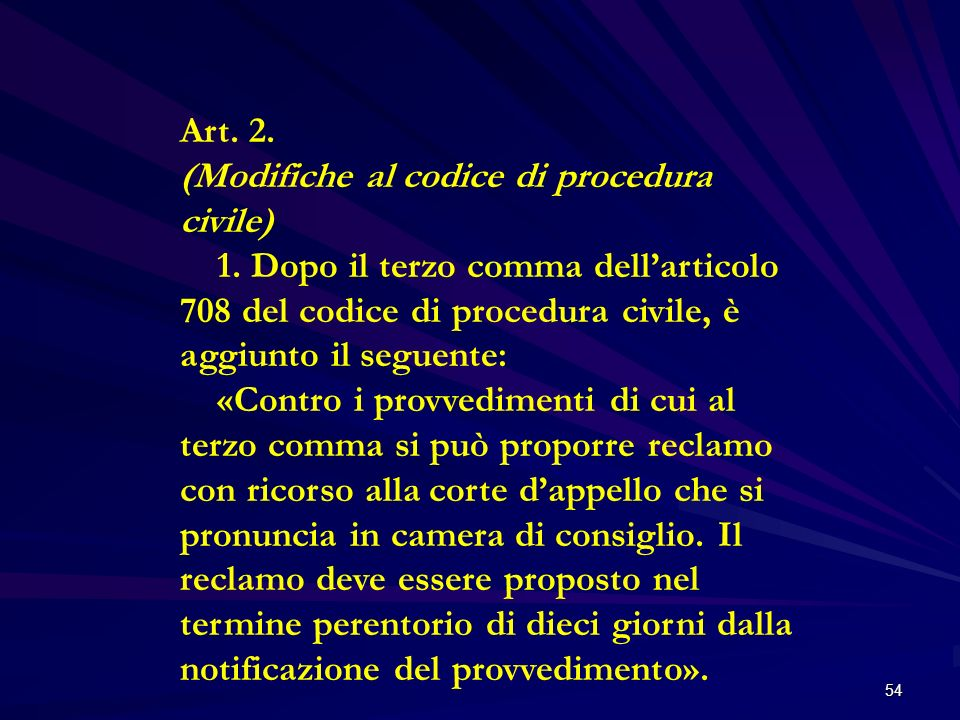 Art. 2. (Modifiche al codice di procedura civile)