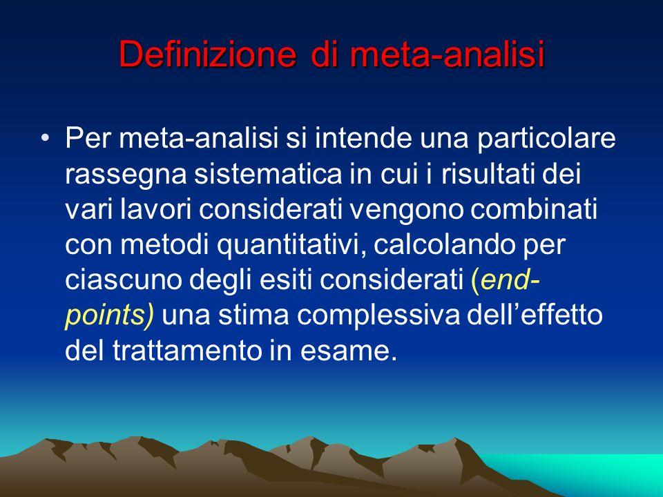 Definizione di meta-analisi