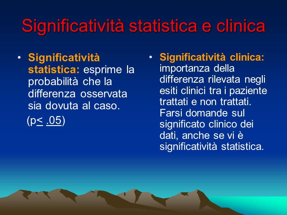 Significatività statistica e clinica