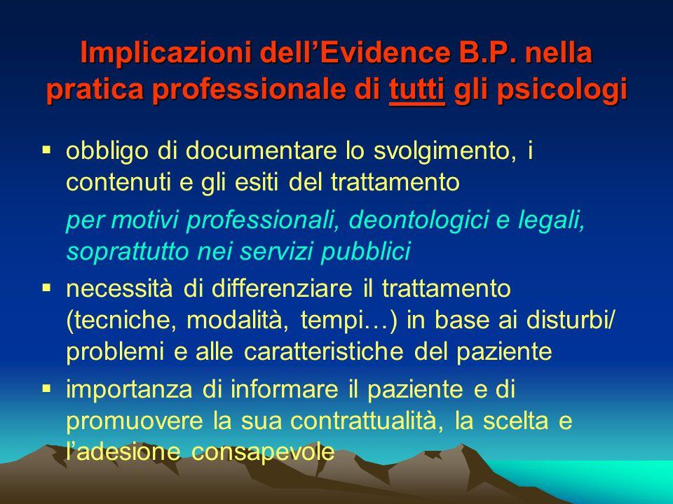 Implicazioni dell'Evidence B. P