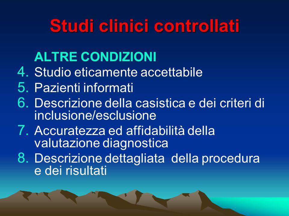 Studi clinici controllati