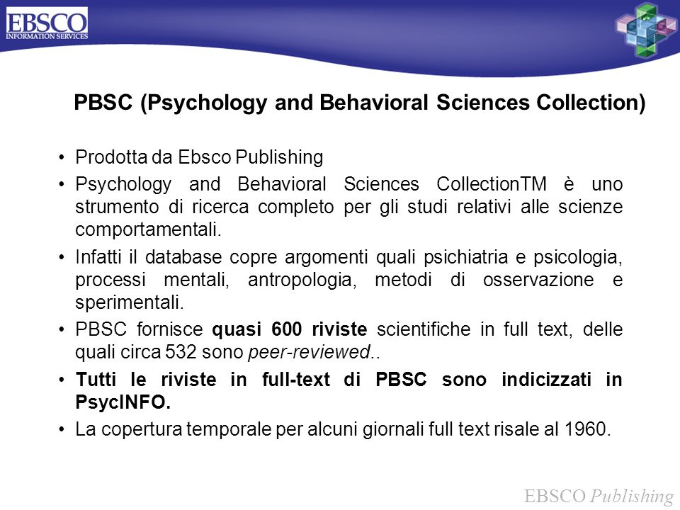 PBSC (Psychology and Behavioral Sciences Collection)