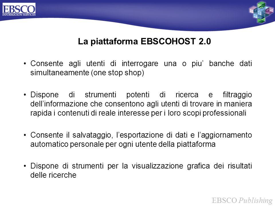 La piattaforma EBSCOHOST 2.0