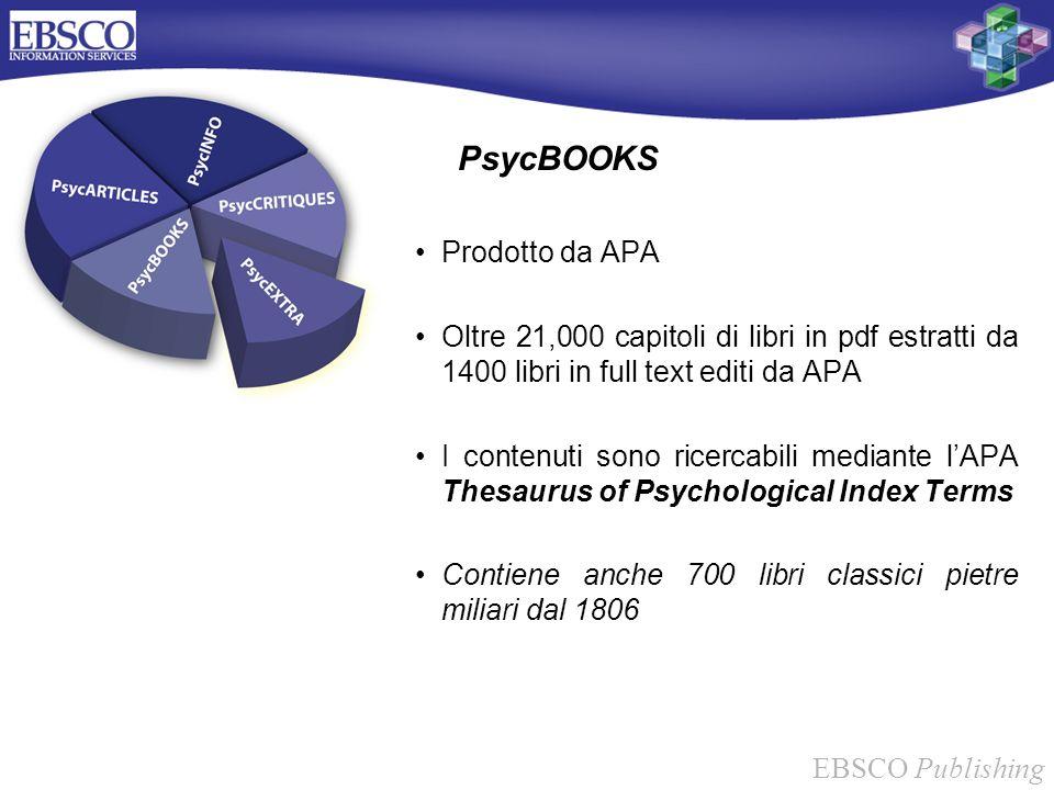 PsycBOOKS Prodotto da APA