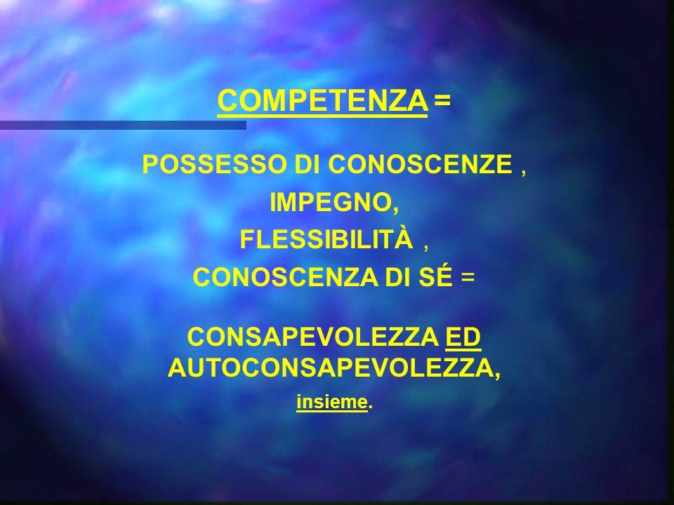 POSSESSO DI CONOSCENZE ,