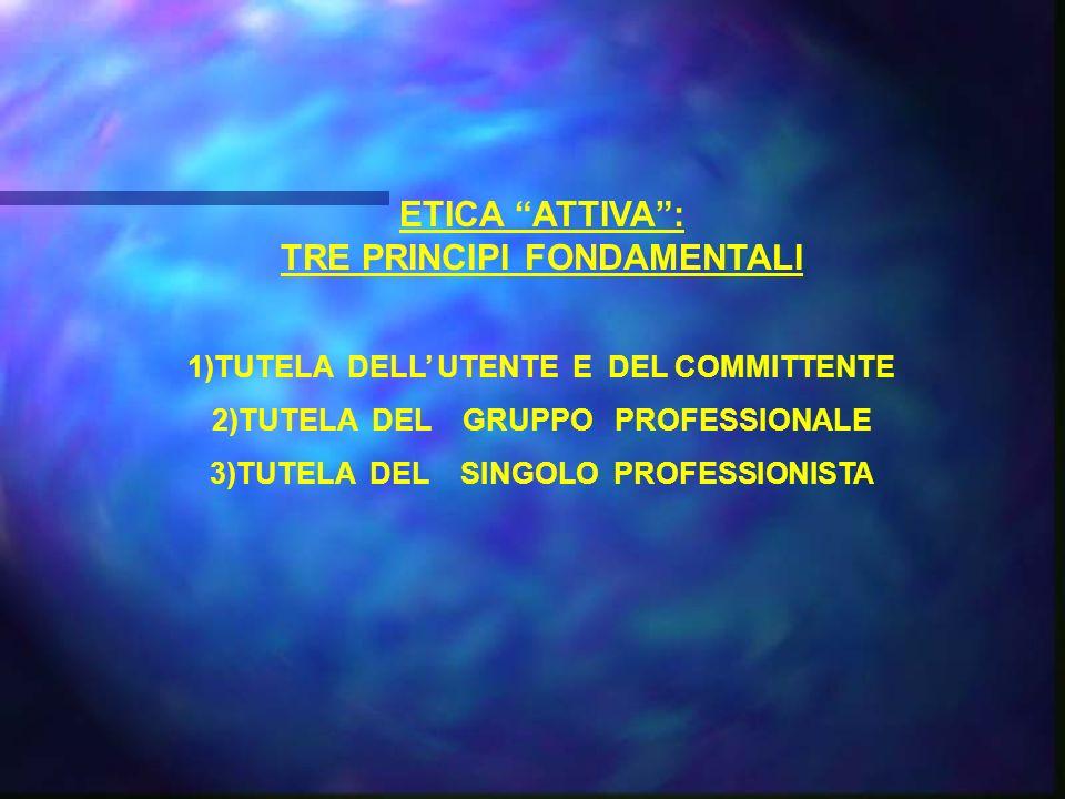 ETICA ATTIVA : TRE PRINCIPI FONDAMENTALI