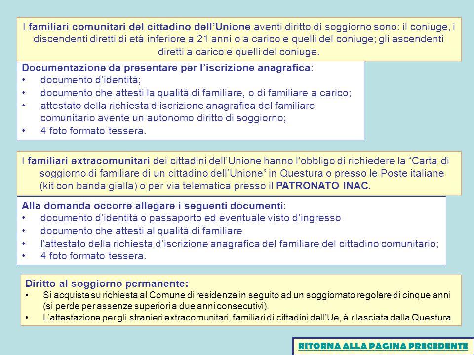 Emejing Carta Di Soggiorno Per Coniuge Di Cittadino Italiano ...