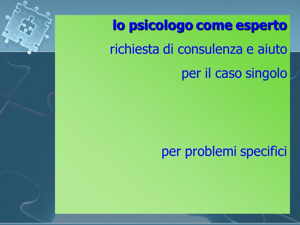 lo psicologo come esperto