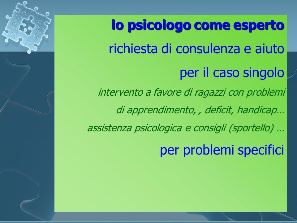 lo psicologo come esperto richiesta di consulenza e aiuto