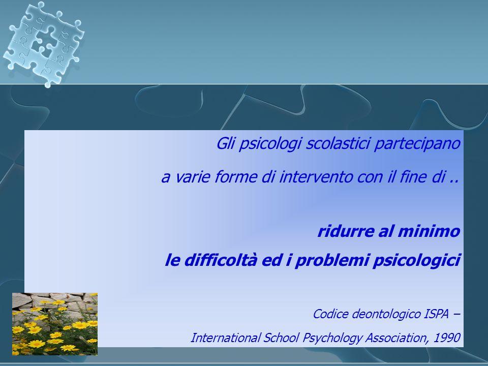 Gli psicologi scolastici partecipano