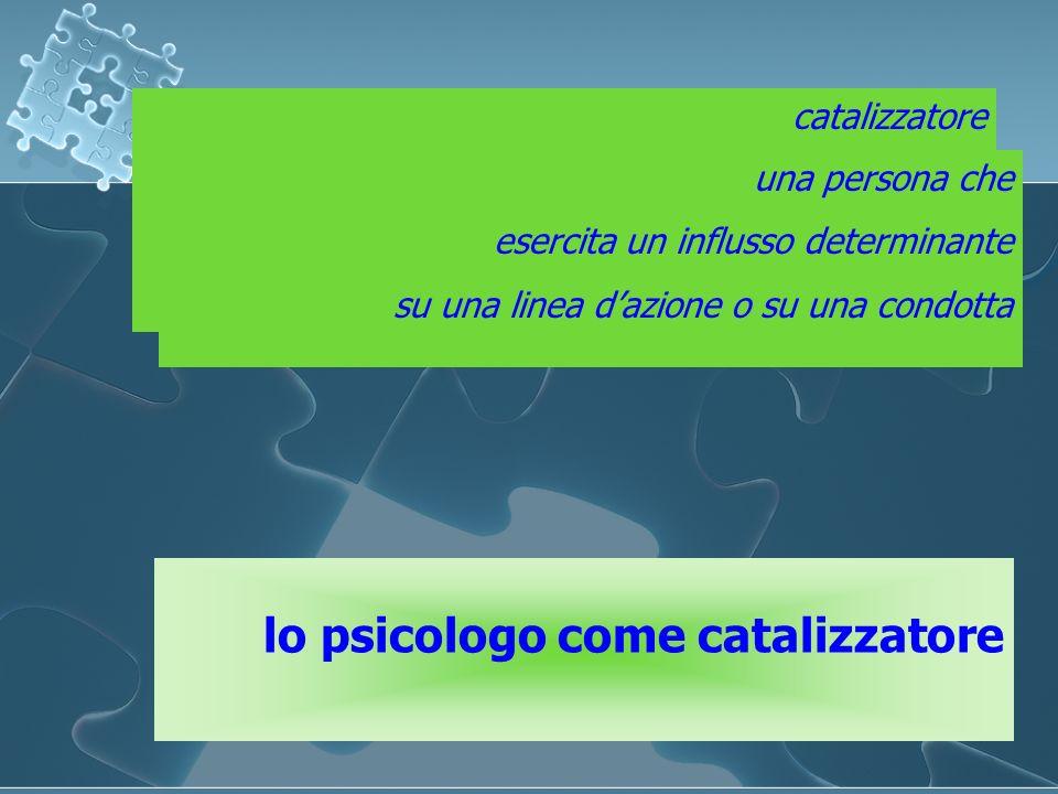 lo psicologo come catalizzatore