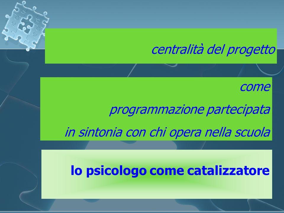 centralità del progetto