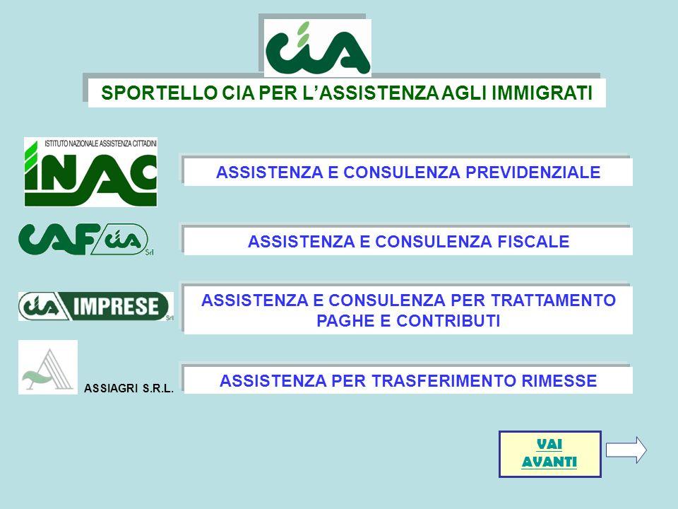 SPORTELLO CIA PER L'ASSISTENZA AGLI IMMIGRATI