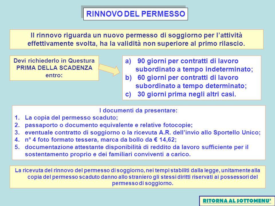 Beautiful Carta Soggiorno Tempo Indeterminato Ideas - Idee ...
