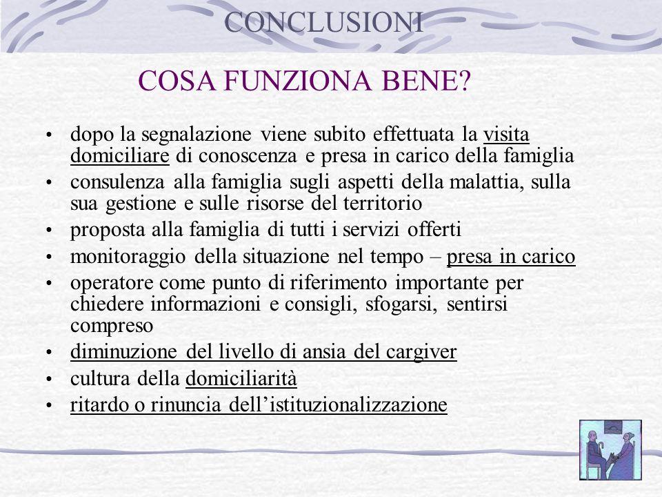 CONCLUSIONI COSA FUNZIONA BENE
