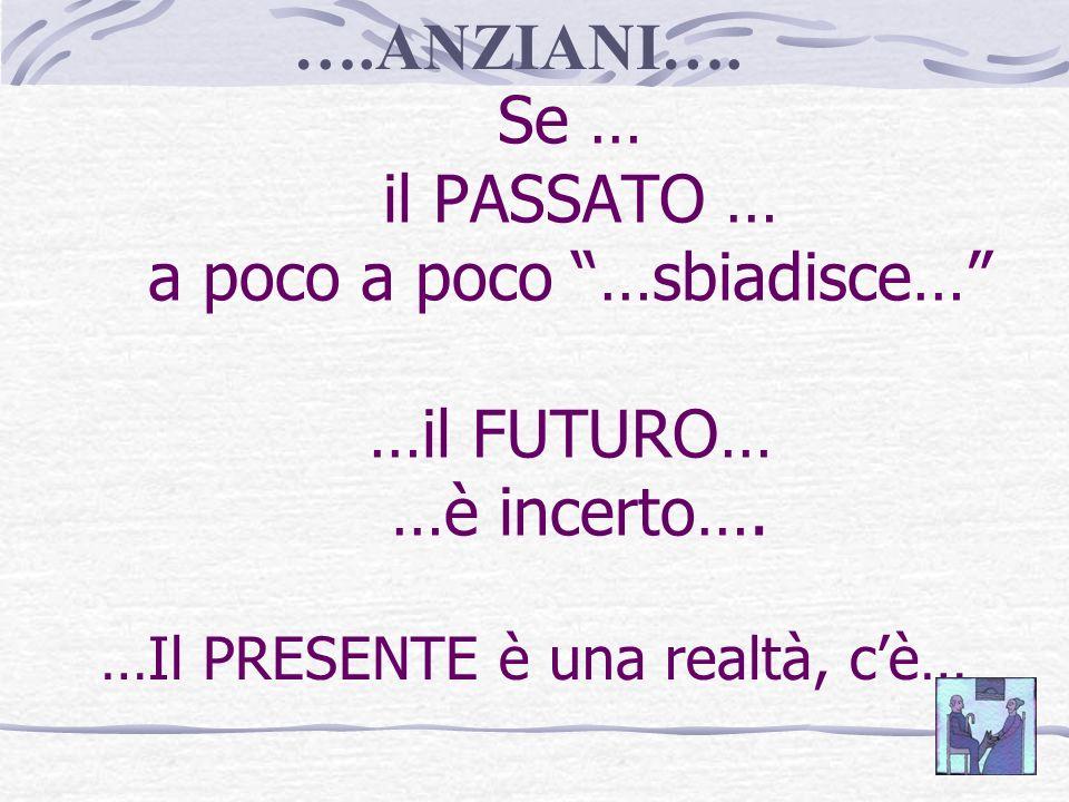 Se … il PASSATO … a poco a poco …sbiadisce… …il FUTURO… …è incerto….