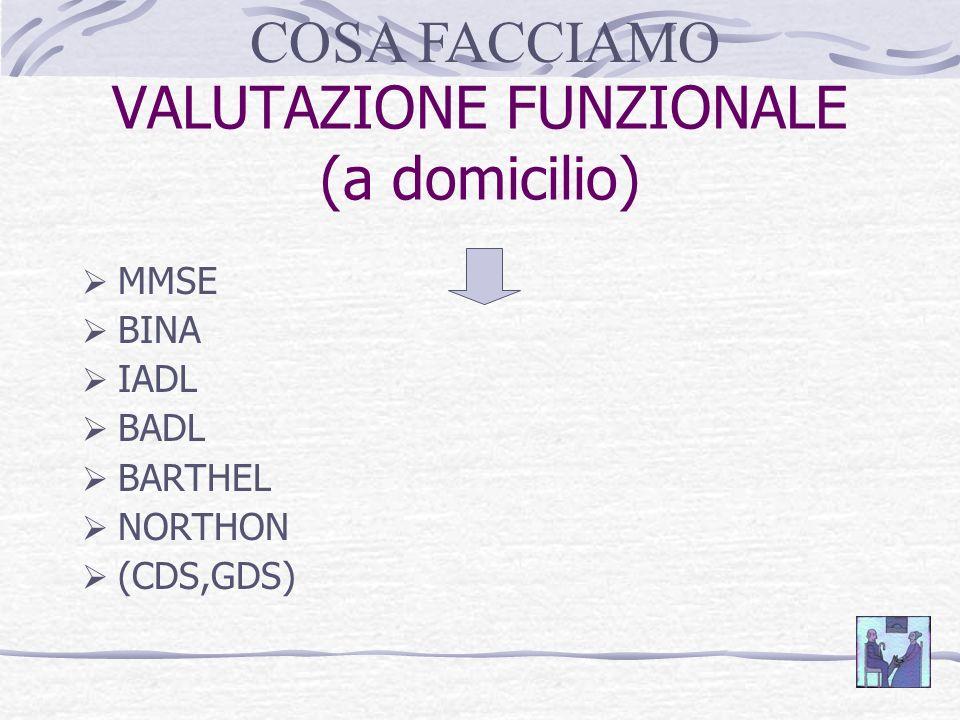 VALUTAZIONE FUNZIONALE (a domicilio)