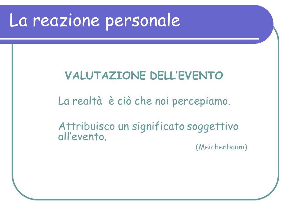 VALUTAZIONE DELL'EVENTO