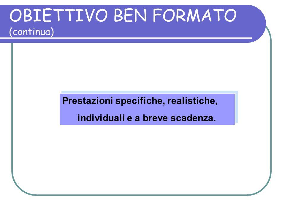 OBIETTIVO BEN FORMATO (continua)