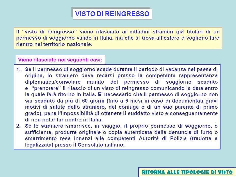 RITORNA ALLE TIPOLOGIE DI VISTO