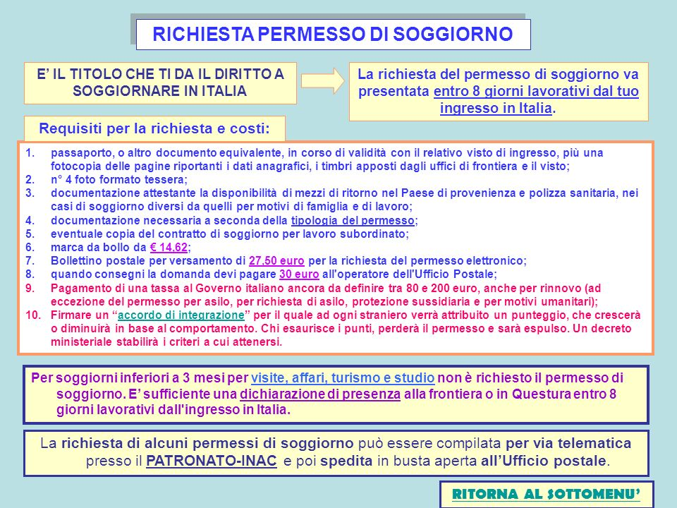 Stunning carta di soggiorno permanente ideas amazing design