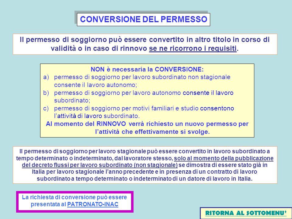 CONVERSIONE DEL PERMESSO