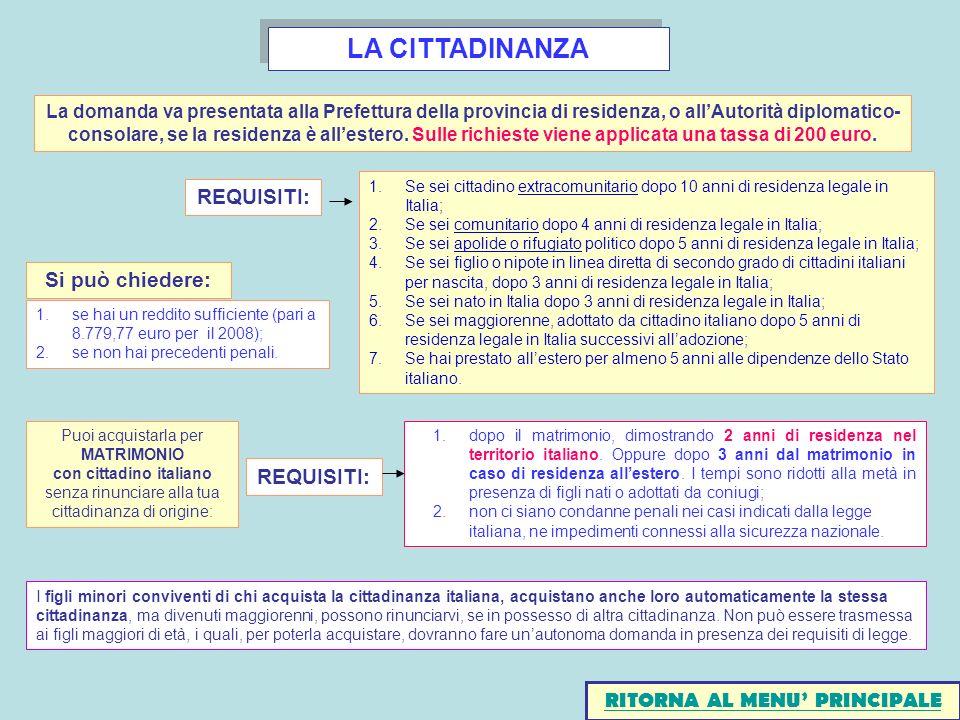 Sportello cia per l assistenza agli immigrati ppt scaricare for Cittadinanza italiana tempi di attesa 2018