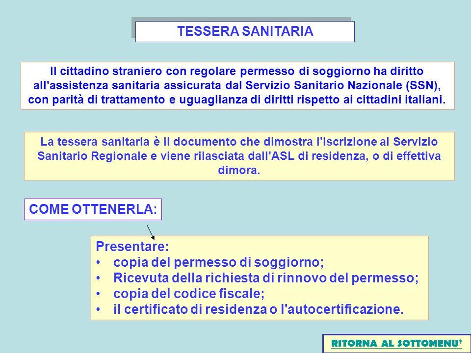 TESSERA SANITARIA COME OTTENERLA: