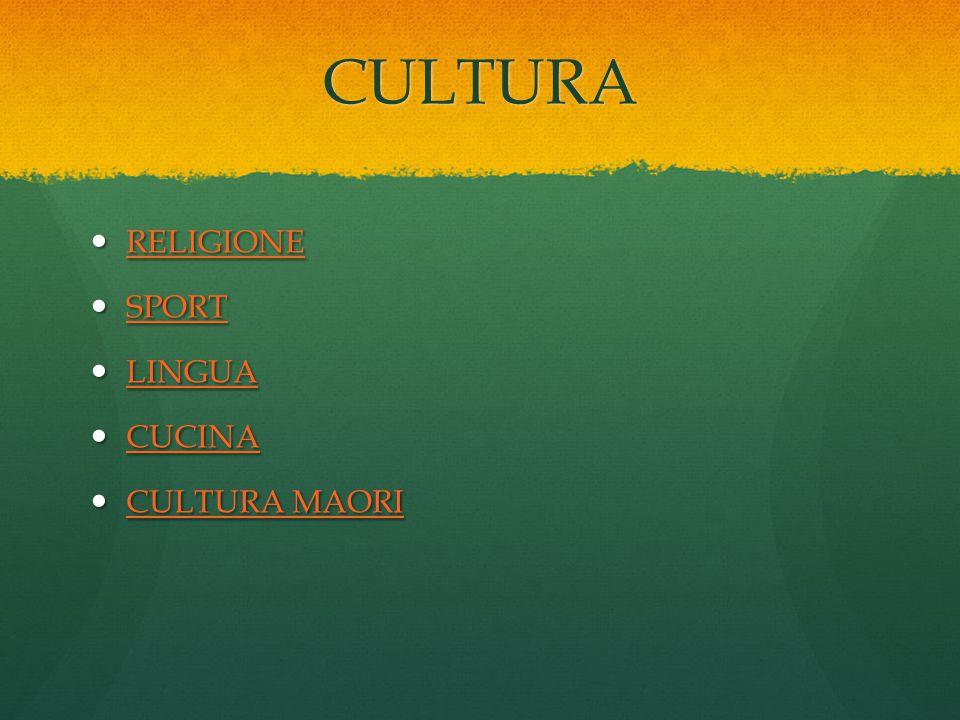 CULTURA RELIGIONE SPORT LINGUA CUCINA CULTURA MAORI