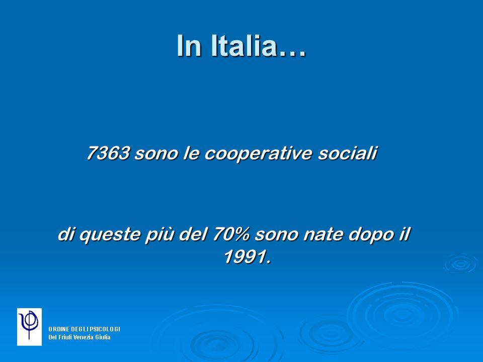 In Italia… 7363 sono le cooperative sociali