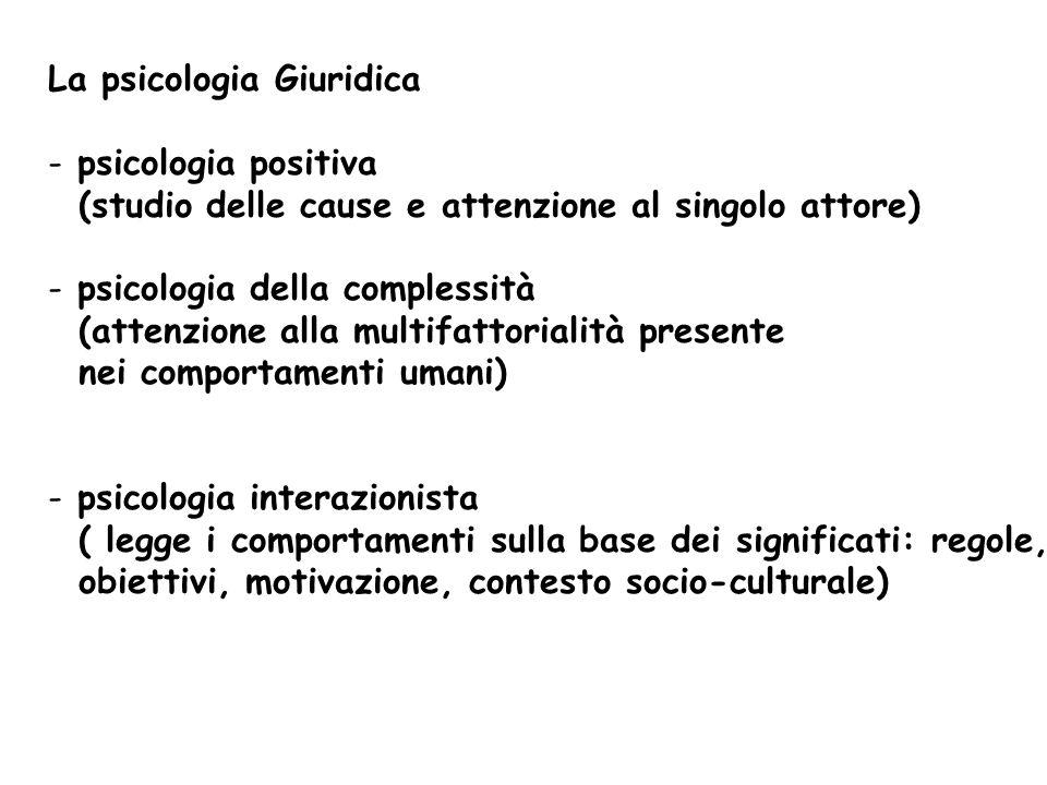 La psicologia Giuridica