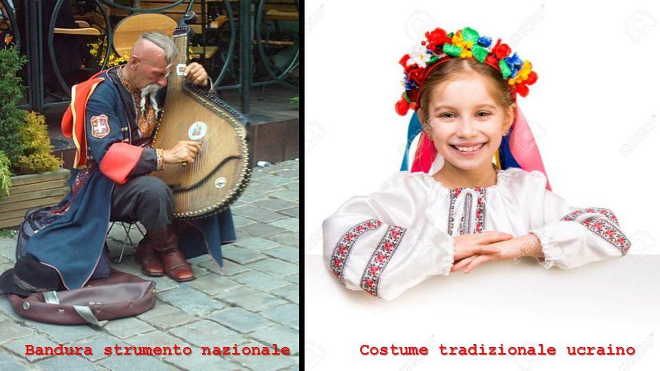 Bandura strumento nazionale Costume tradizionale ucraino