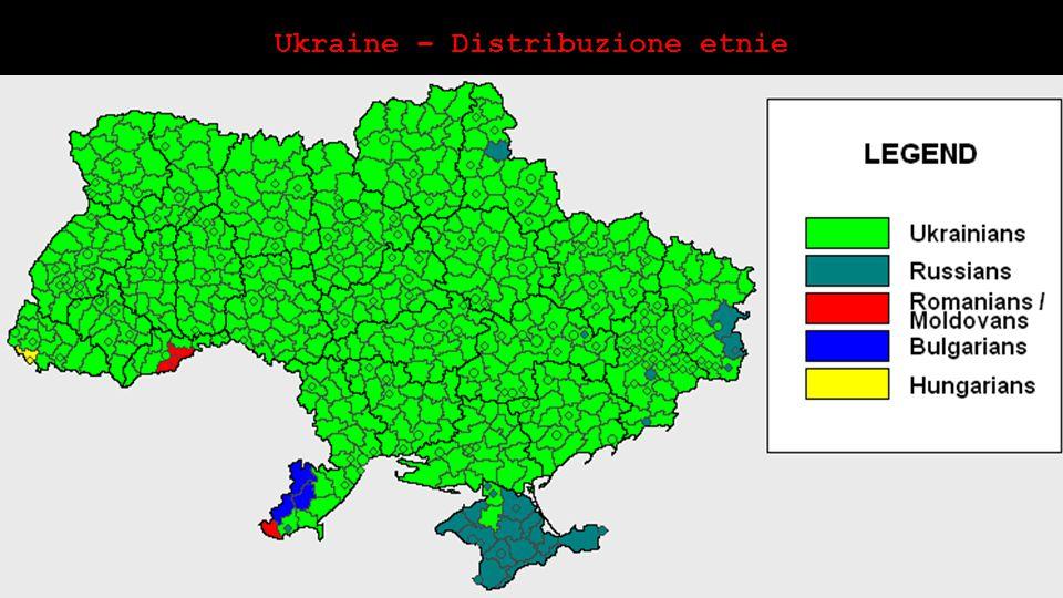 Ukraine – Distribuzione etnie