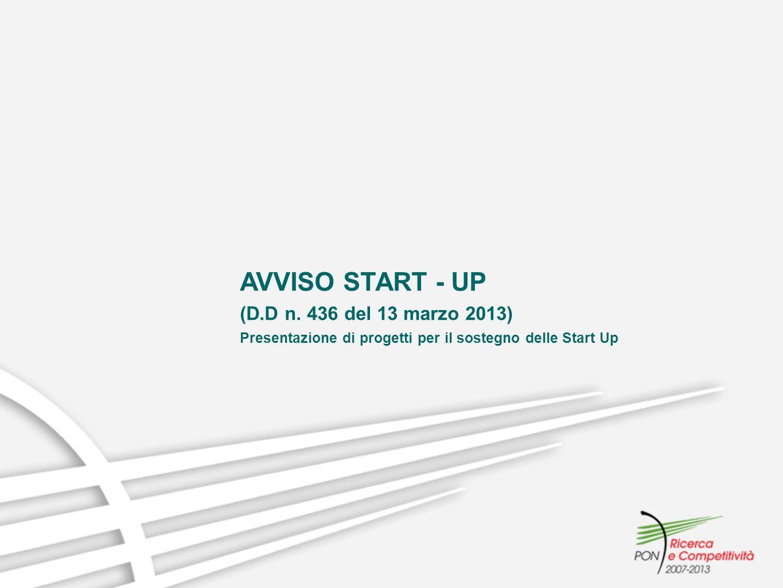 AVVISO START - UP (D.D n. 436 del 13 marzo 2013)
