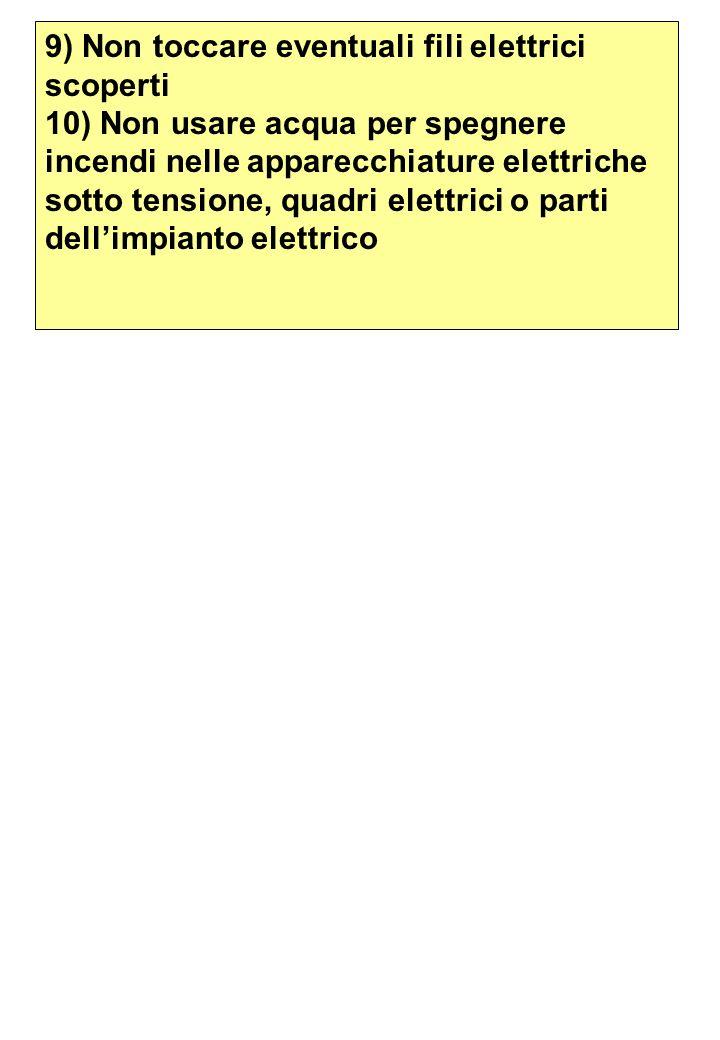 9) Non toccare eventuali fili elettrici scoperti