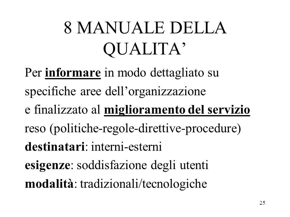 8 MANUALE DELLA QUALITA'