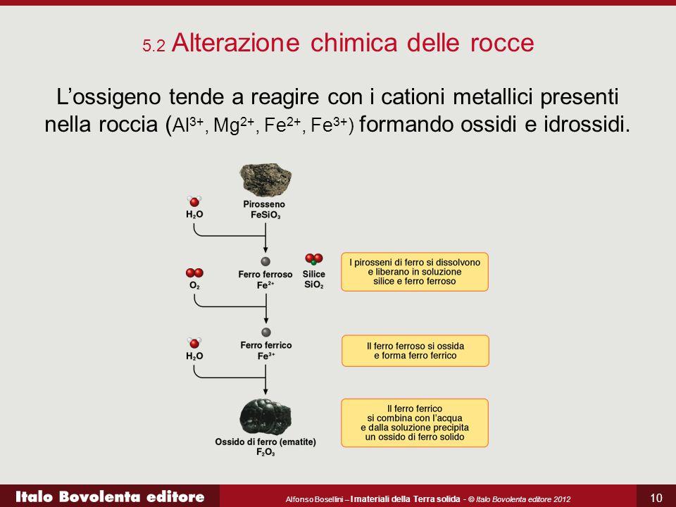5.2 Alterazione chimica delle rocce