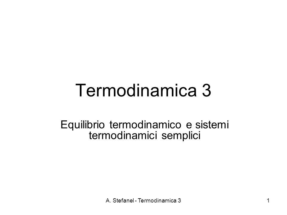 Equilibrio termodinamico e sistemi termodinamici semplici