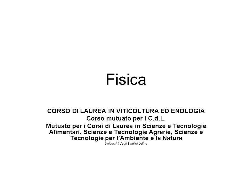 CORSO DI LAUREA IN VITICOLTURA ED ENOLOGIA