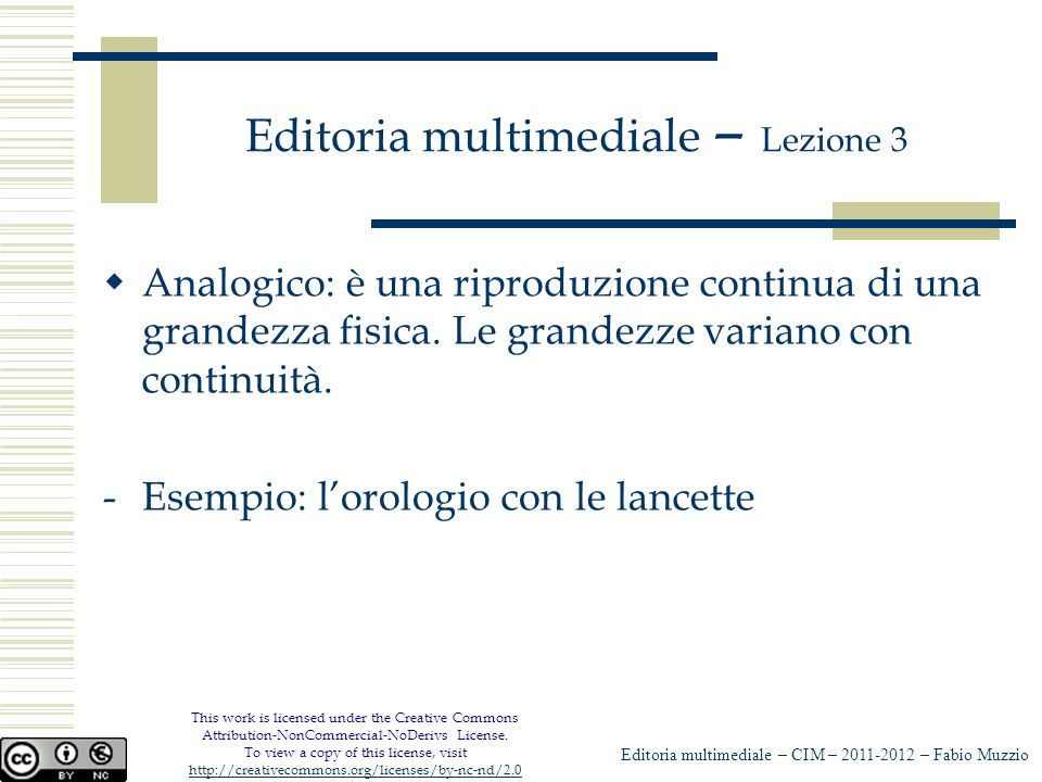 Editoria multimediale – Lezione 3