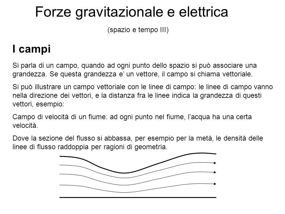 Forze gravitazionale e elettrica